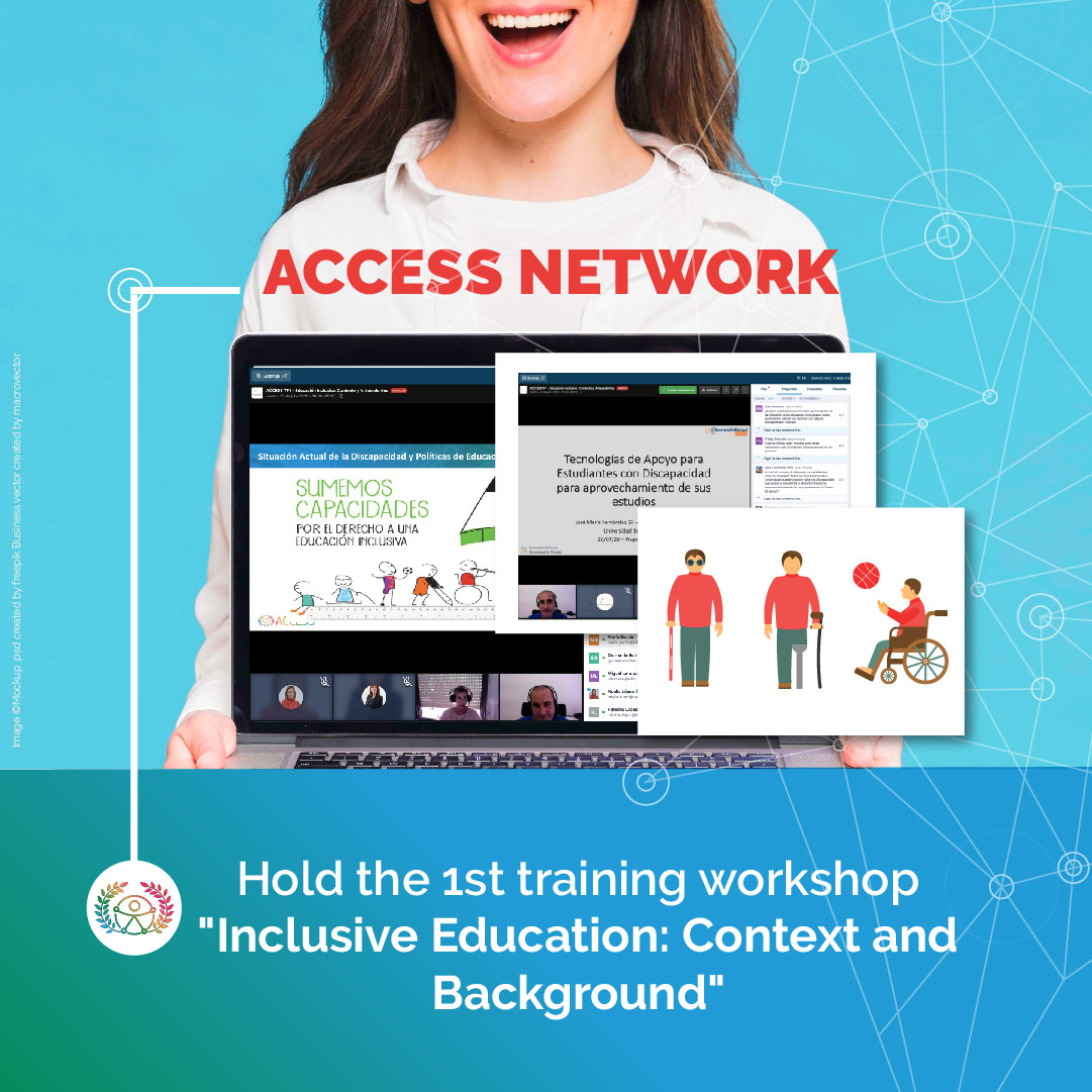 "Cover photo of the news, that it says ""ACCESS network hold the first training "" Inclusive Education: Context and Background """